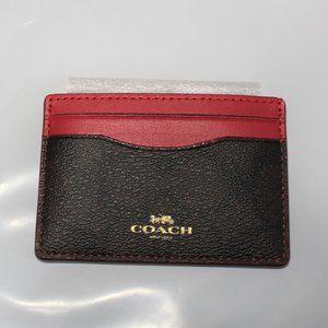 NWT Coach Signature Card Case Mini Wallet